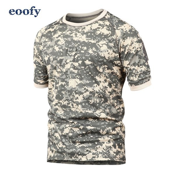 Men Summer Quick Dry Military T-shirt O Neck Breathable Tactical T-shirt Camouflage Combat Army T-shirt Short Sleeve SH190709