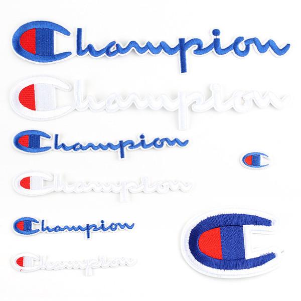 Moda Campeão Marca Emblema Remendo Bordado Computador Insignia Chapéu Colante Roupas Exquisite Emblemas Vários Estilos de Venda Quente 1dk M1 E1