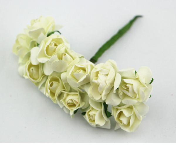 Mini Size Handmade Paper Rose Flower - Wedding Decoration Scrapbook DIY Craft Gift Packaging Valentines Anniversary Embellishment Holiday