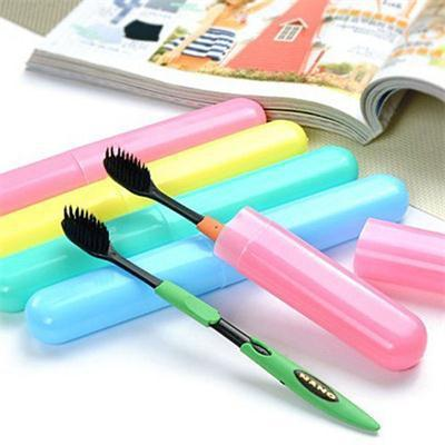 Portable Toothbrush Cover Holder Camping Hiking Toothrush Cap Case Protect Random Color Outdoor