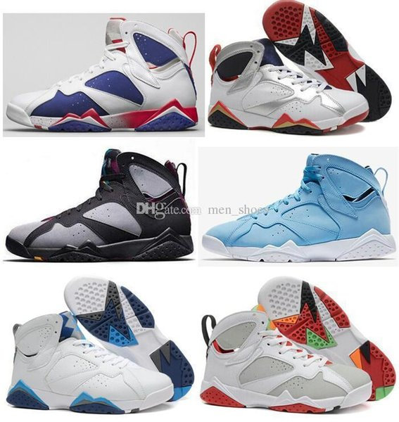 High Quality lfssba 7 7s Raptor Bordeaux Hare Tinker Alternate Men Basketball Shoes French Blue Sweater UNC GMP Olympic Sneaker