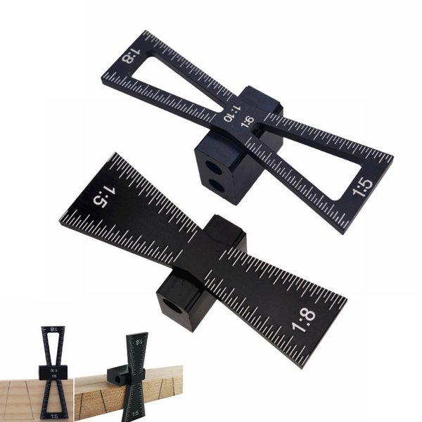 مقاييس New Marker Aluminium Alloy Dovetail Parking Template 1: 5 1: 8 الخشب المقياس المشترك مع أدوات دليل Dovetail