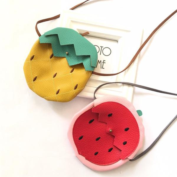 Nouvel Ananas Pastèque Fruit Forme Enfants Pièce Poche Porte-monnaie Porte-monnaie Petit Portefeuille Enfant Sac Cadeaux D'anniversaire pour Enfants
