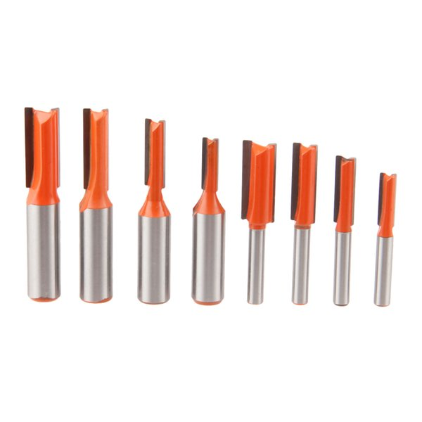 """router DRELD 1pcs 1/4\"""" 1/2\""""Shank Straight Woodworking Tools Router Bit for Wood Tungsten Carbide Endmill Milling Cutter"""