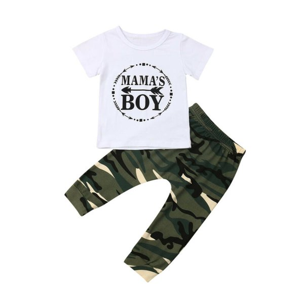 0-24m newborn kids baby boys clothes summer t-shirt camo pants outfits clothes baby tracksuit thumbnail