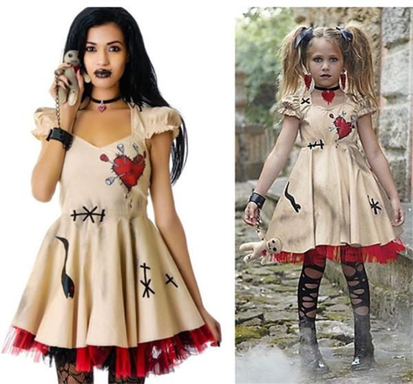 Envío gratis Wedding Ghost Bride Cosplay Voodoo Doll Disfraces Disfraces de Halloween para Mujeres Adultos Anime Cosplay Girls Vampire