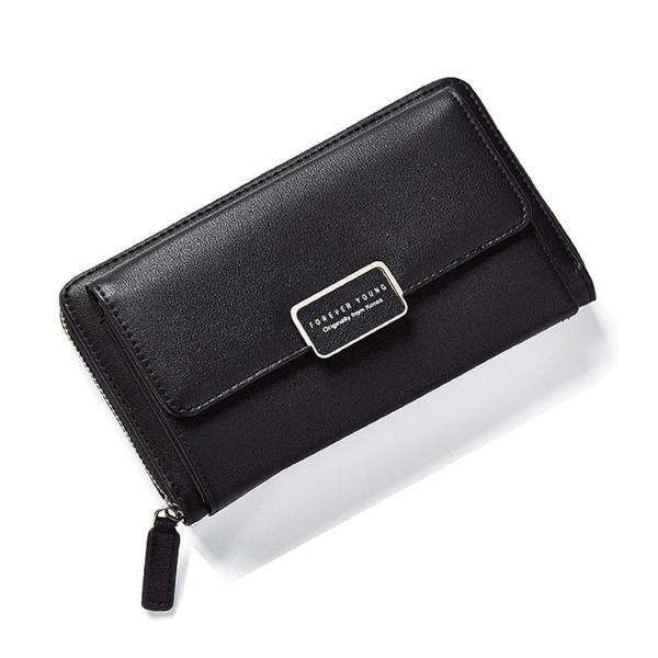 Fashion Zipper Wallet Women Multi-function Long Wallet Purse Chain Ladies Crossbody Bags Big Capacity Card Holder Bags-f570-1w