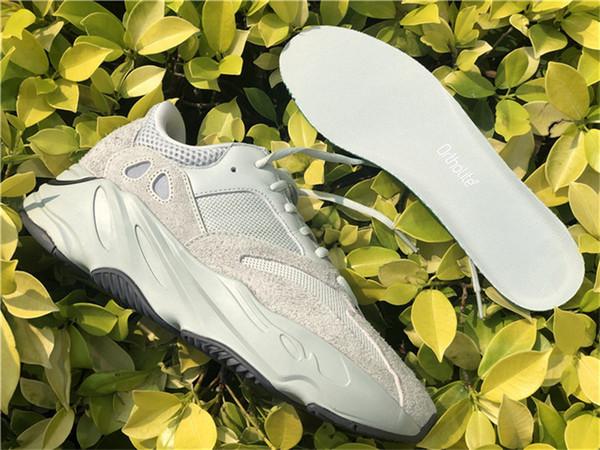 2019 Otantik 700 V2 Tuz EG7487 Kanye West Erkekler Kadınlar Için Açık Ayakkabı Koşucu Dalga Leylak Statik Atalet Geode Açık Sneakers Ile kutu