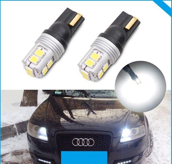 T10 led w5w 194 168 bombilla lámpara canbus sin error para Audi A5 Cabriolet Sportback A6 C4 C5 C6 C7 Avant A8