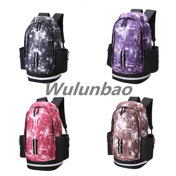 New Kobe Designer Backpack The Olympic Men Women Designer Bags Teenager Outdoor Lightning Basketball Backpack 4 Colour