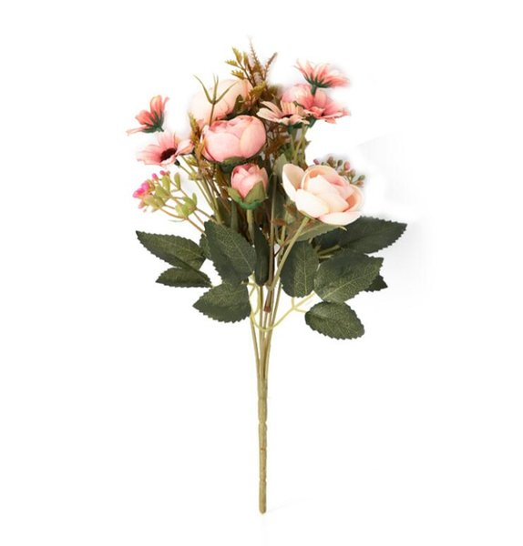 Nordic Artificial Silk Pearl Bud Flower Simulation Fake Flowers Bridal Wedding Birthday Party Bouquets DIY Home Office Decor Supply