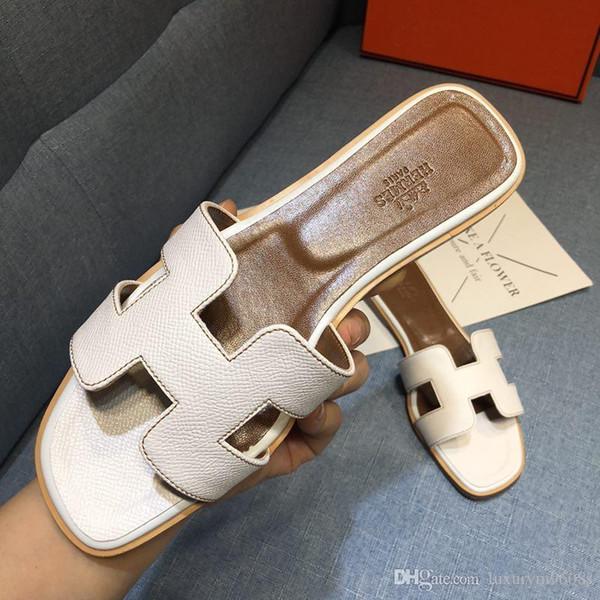 ¡PRECAUCIÓN! Marca de CALIENTE de Las Mujeres de Impresión de Cuero Sandalia Nómada Diseñador de Cuero Suela Perfecta Lona Plana Sandalia Sencilla Size35-42