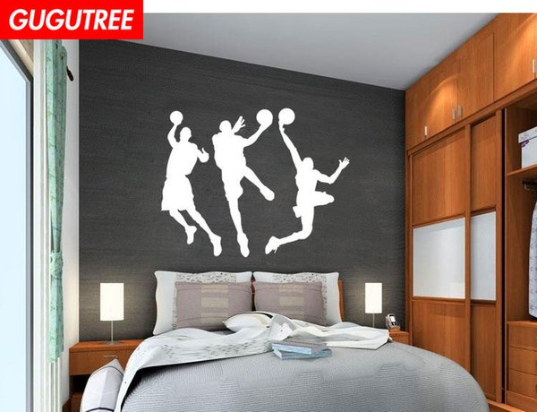Decorate Home basketball cartoon art wall sticker decoration Decals mural painting Removable Decor Wallpaper G-1898