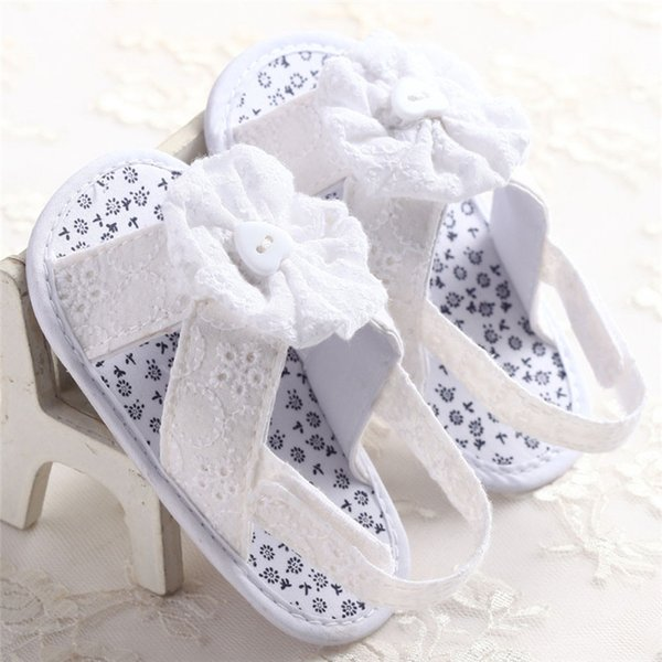 White Dark Blue Summer Baby Girl Sandals Toddler Baby Flower Princess Cotton Fabric Sandals Girls Kid Shoes NDA84L25