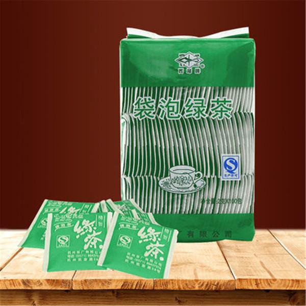 200g di tè cinese naturale organico Longjing Dragon Well 2g * 100 bustina di tè crudo Health Care Spring New Tea Green Food