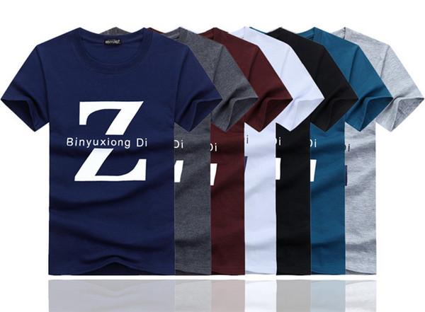 Новый Бренд Мужские Футболки Летние хлопчатобумажные Футболки с коротким рукавом повседневная Футболки Мужские футболки Homme Размер S-5XL BY8