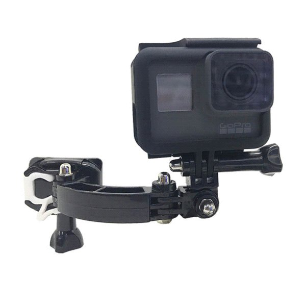 TUYU Gopro Accessoires 4 manières Montage sur plaque tournante Go Pro Hero 4 5 6 Support de mentonnière pour casque de moto SJ4000 EKEN H9 H9R