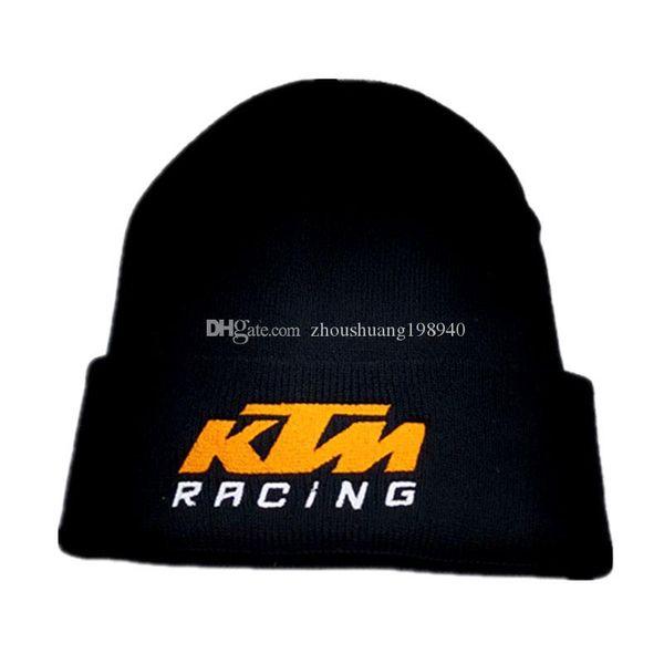 New Moto GP Letters embroidery KTM Racing Men cap women Beanie Knitted Hip Hop Winter Hats For Women Fashion Warm Skullies Bonnet