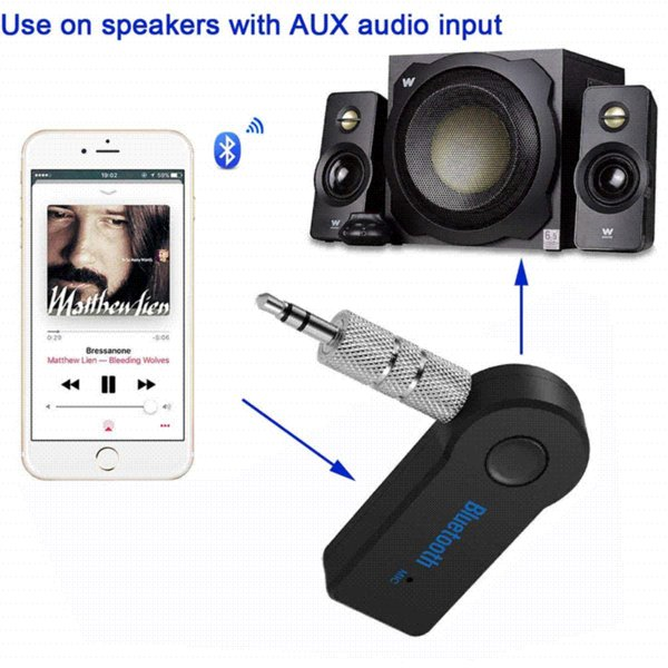 3.5MM Jack Bluetooth AUX Audio Music Receiver Car Subwoofer Amplifier Kit in-car Handsfree Device for xiaomi Phone for Audi a5