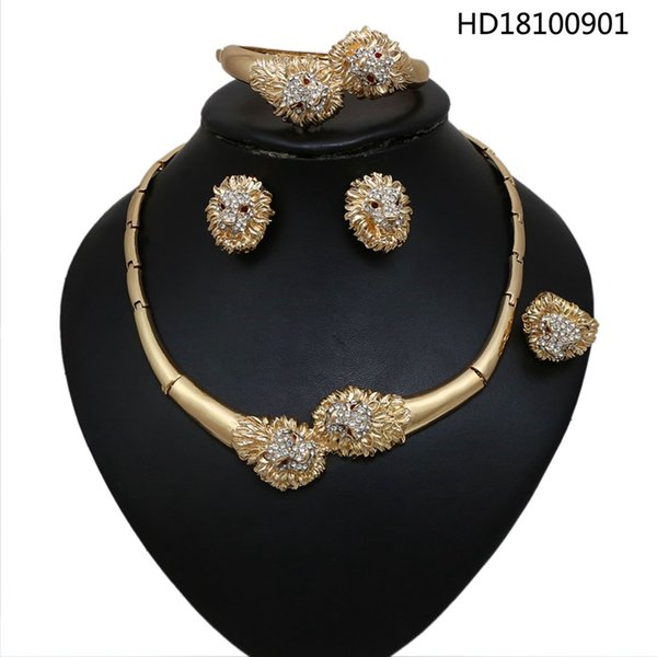 Top Quality Pendant Necklaces 2019 Hot Hiphop Jewelry Gold Plated Luxury Women Men 2PCS Accessories Free Shipping