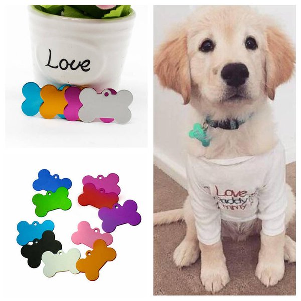 Dog Tag Double Sides Bone Shaped Dog Tag Colorful Personalized Dog ID Tags sign Marked Pet ID Tags Name Phone Number Card CLS535