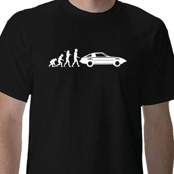 Evolution of Man, Mazda RX-7 series 1 t-shirt 3D Men Hot Cheap Short Sleeve Male T-Shirt Mens Hipster Short Sleeve Tee Tops Design Tops