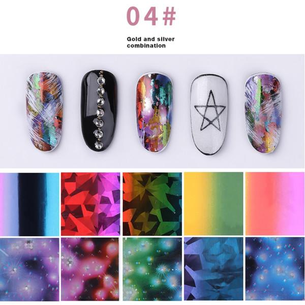 1 Box Ultrathin 3D Nail Lace Laser Star Sticker Set Manicure Nail Art Star Sticker Decorations