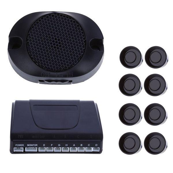 BIBI Buzzing Sound LED 8 Sensors Sensor Kit LED Display Car Parking Auto Reverse Rear Assistance Backup Park Radar Alarm Kit Monitor System