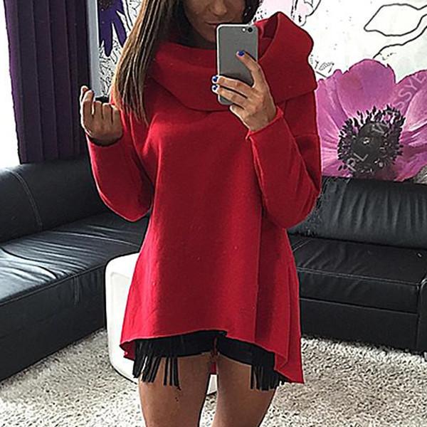 Sudaderas con capucha de las mujeres sudadera de moda de manga larga color puro Top Ladies invierno mujer ropa de primavera sudadera mujer de alta calidad