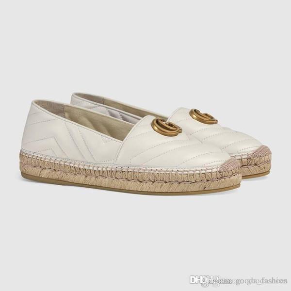 Zapatos de pescador a principios de la primavera Mocasines de cuero, Pisos de alpargatas con suelas de tejido de paja Zapatillas Casual Fisher Zapatillas sin cordones para uso diario