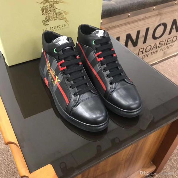 2019G nueva marca personalizada calzado deportivo salvajes zapatos casuales de la moda de los hombres altos zapatos al aire libre de los hombres cómodos de embalaje caja original