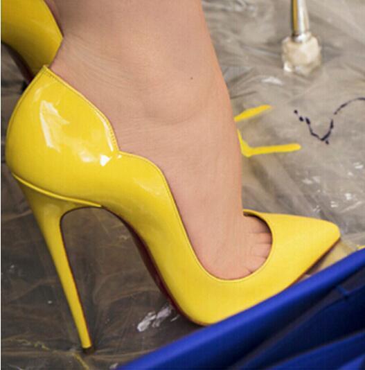 vente-2019 Hot Mode Femmes Pompes Chaussures Femmes Marque Hauts talons Stilettos Pompes pour Femmes Sexy Party Chaussures de mariage grande taille 35-44