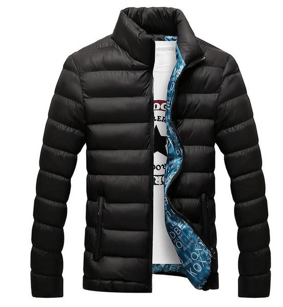 Uomini Giacca 2019 Moda Stand Collar Parka maschile Mens Jacket solida e spessa giacche e cappotti Uomo Inverno Parka M-6XL