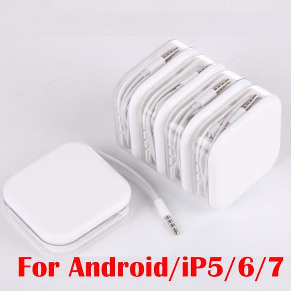 Universale In-Ear 115CM Cuffie auricolari Cuffie con microfono Controllo volume Auricolare per iphone 5 6 7 Samsung s6 s7 s8 telefono Android