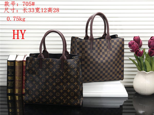 2019 new plaid letters dark retro women business storage book information handbags women travel portable briefcase shoulder bag Fashion bags