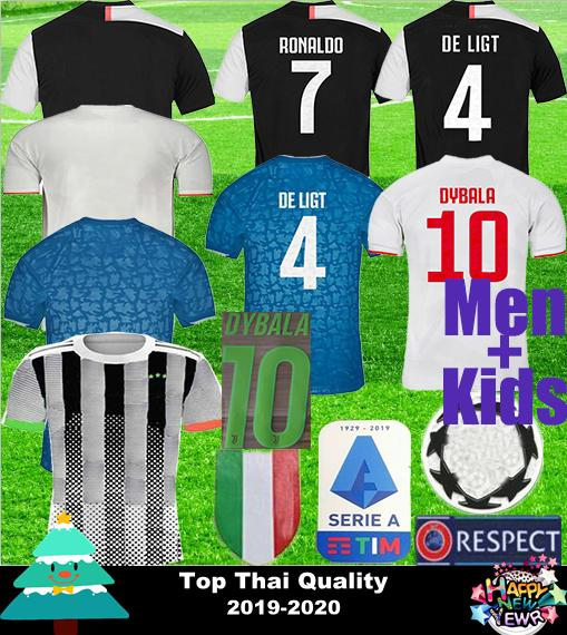 19 20 juve jer ey ronaldo dybala de ligt pjanic occer jer ey 2019 2020 italy buffon men kid juve port football hirt jer ey uniform, Black;yellow