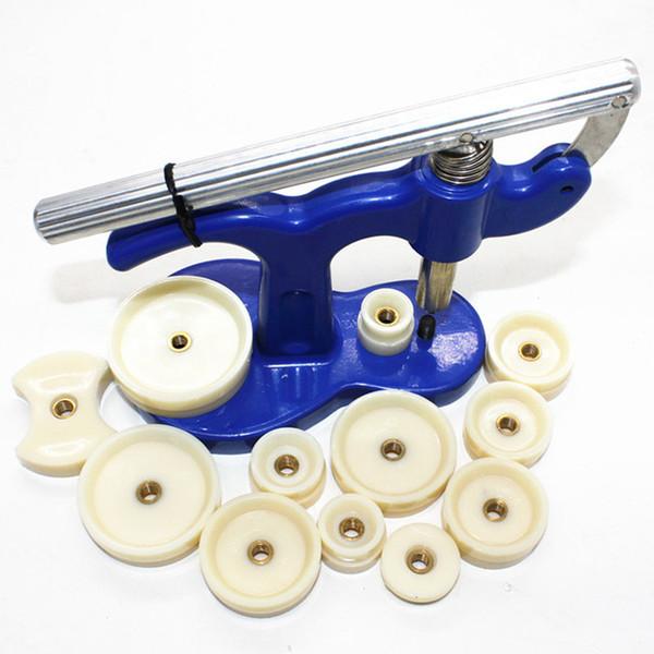 Uhrmacher-werkzeuge Verschluss Zurück Schließen Maschine Uhrpressenset Uhrengehäuse-Reparatur-Werkzeugsatz Mit 12 Formen