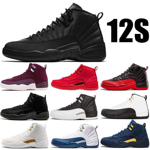 Hot 12s Winterized WNTR Bulls Gym Red Mens Basketball Shoes The Master Flu Game Taxi 12 men sport sneakers designer trainers shoe US7-13