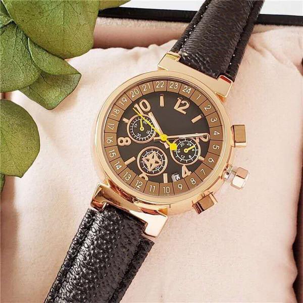 top popular 2020 Fashion Watch Top Brand Ladies Presbyopia Leather Watch 32MM Small Dial High Quality Female Quartz Watch 2020
