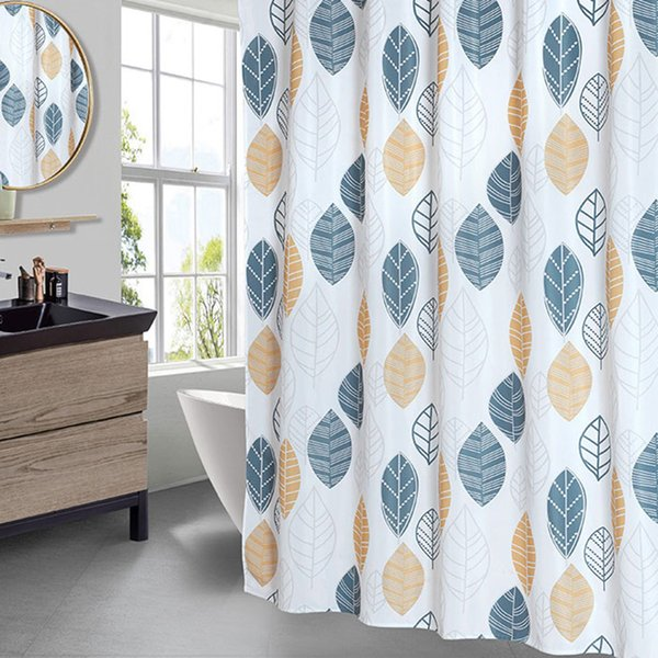 Stick Figure Leaves Shower Curtain Bathroom Waterproof Polyester Shower Curtain Printing Curtains for Bathroom Shower with Hooks