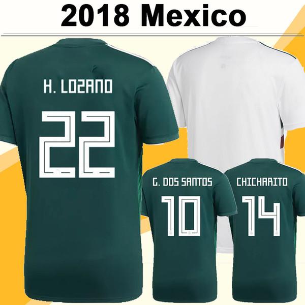 2018 World Cup Mexico CHICHARITO Soccer Jerseys H.LOZANO A.GUARDADO Home Away Shirts National Team R.JIMENEZ H.HERRERA LAYUN Football Jersey