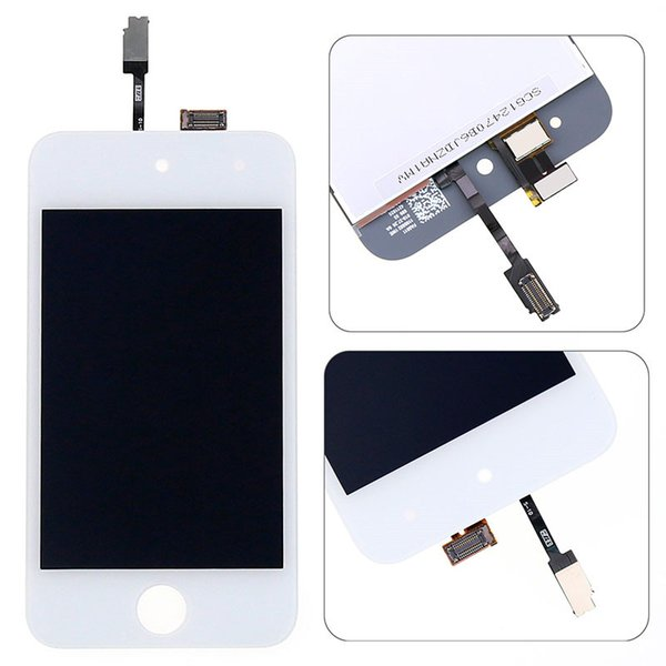 For Touch 4th gen LCD assembly For Touch 4 screen panel display Digitizer Assembly Repair Black White With tools