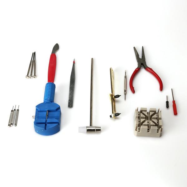 16 Piece Watch Repair Kit Set & Wrist Strap Adjust Remover Pin Tool Kit Back Fix Desmontar el conjunto de mesa