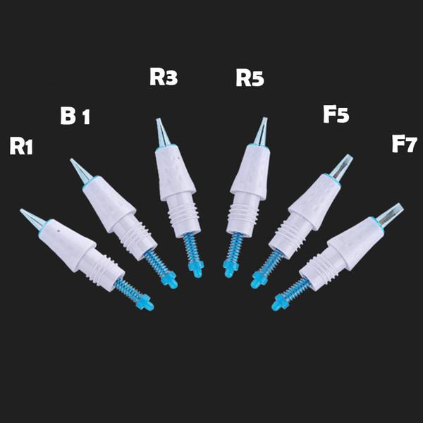 50 unids tatuaje aguja cartucho R1 R3 R5 F5 F7 utilizado para Artmex V8 V6 PMU para MTS máquina de maquillaje semi permanente