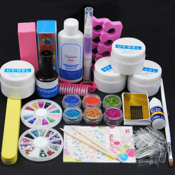 Conjunto de manicura Lámpara LED UV Gel UV Punta de uñas Herramientas para uñas Herramientas de arte Juego de uñas Kit de gel de construcción