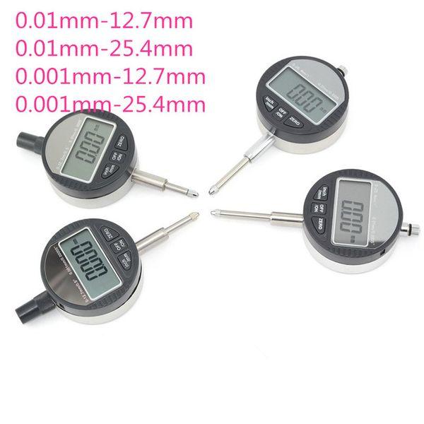 best selling 4PCS Digital DIAL INDICATOR Precision 0.01mm 0.001mm Range 0-12.7mm 0-25.4mm Professional Micrometer Gauge Caliper Tester Meter