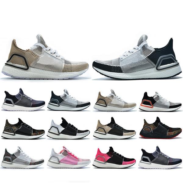 Yeni Stil Ultra 2019 Koşu ayakkabıları erkekler kadınlar Için Bulut Beyaz Siyah Koyu Piksel Refract Temizle Kahverengi Primeknit spor eğitmenler sneakers 5-11