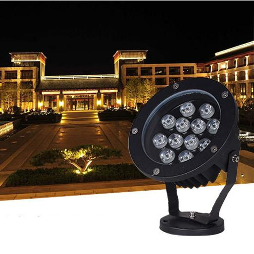 Açık LED Spotlight 48 W 36 W 24 W 18 W 15 W AC85-265V 120-130LM / W PF0.9 Peyzaj Aydınlatma için Doğrudan Su Geçirmez Sel Işık Lambaları