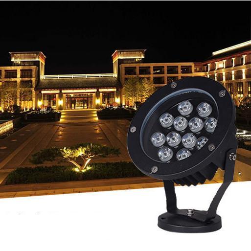 Outdoor LED Spotlight 48W 36W 24W 18W 15W AC85-265V 120-130LM/W PF0.9 Waterproof Flood Light Lamps for Landscape Lighting Direct Shenzhen