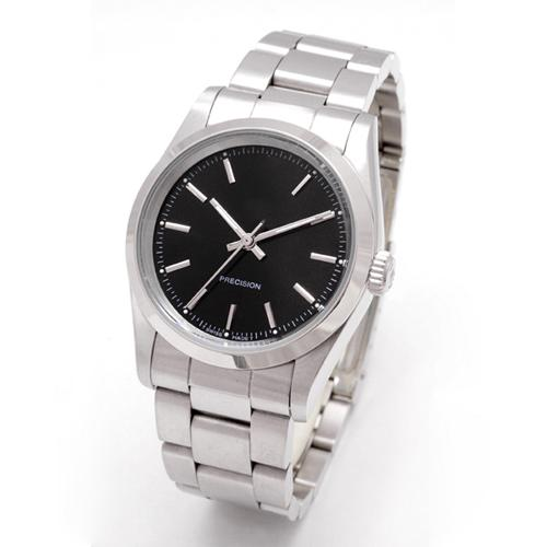 Vendita calda 14000 orologi da uomo cinturino in acciaio inox re re quadrante nero movimento automatico precisione vetro zaffiro specchio nero orologio